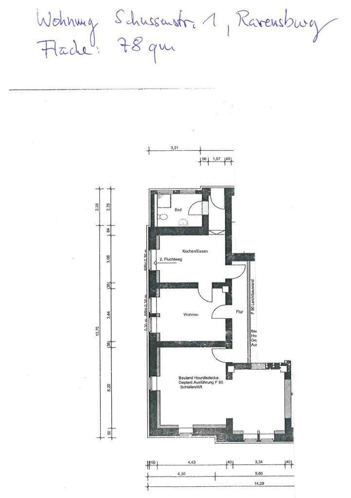 Grundriss der Wohnung Souterrain